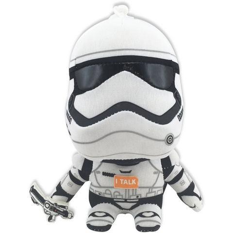 Pluchen knuffel met geluid en hanger, »DISNEY STAR WARS™, Stormtrooper, ca. 14 cm«