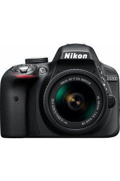D3300 Kit spiegelreflexcamera, AF-P DX NIKKOR 18-55 mm 1:3,5-5,6 G VR zoom, incl. tas