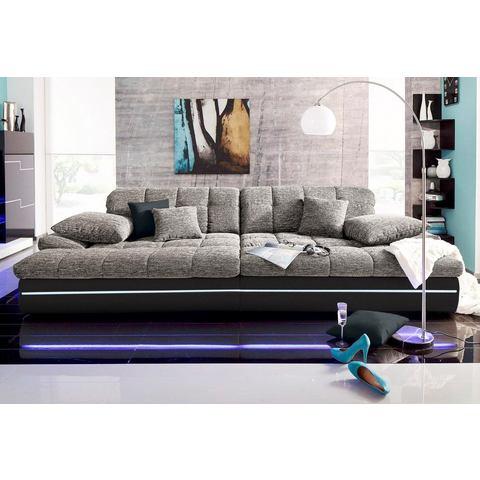 woonkamer extra groot bankstel zwart Megabank 32