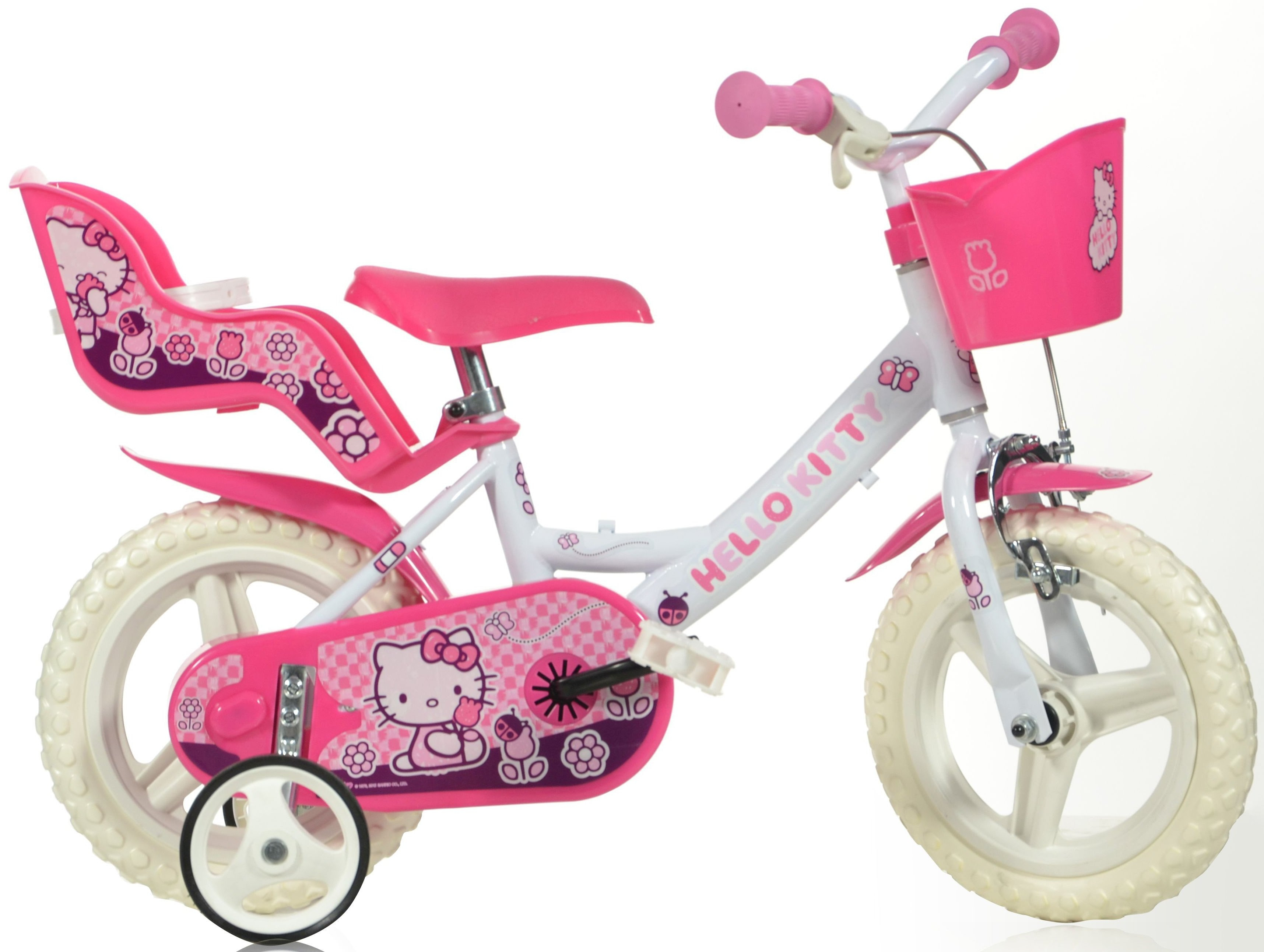 HELLO KITTY Kinderfiets, 12 inch, met stuurmand + poppenzitje, »Hello Kitty« goedkoop op otto.nl kopen