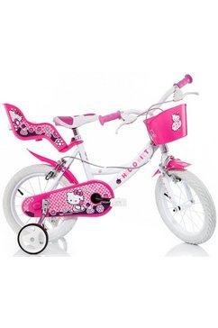 kinderfiets, met stuurmand + poppenzitje, »hello kitty« roze