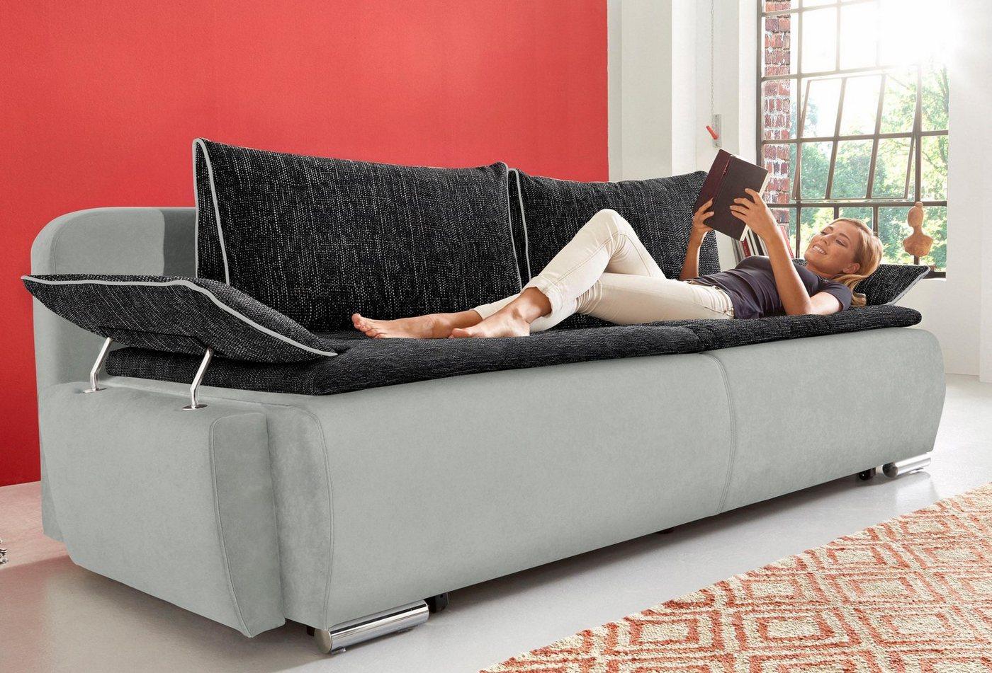 Bedbank in boxspringuitvoering, geschikt als volwaardig bed