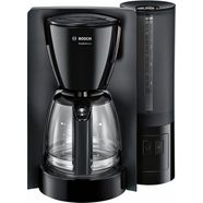 bosch koffiezetapparaat tka6a043, met glazen kan, papierfilter 1x4. zwart