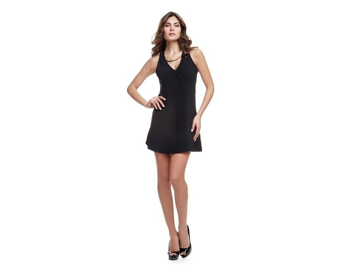 Guess jurk met mooie halslijn zwart
