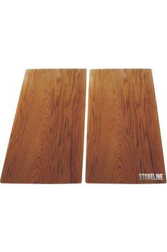 ® kookplaatafdekblad/snijplank in set (2-dlg.)