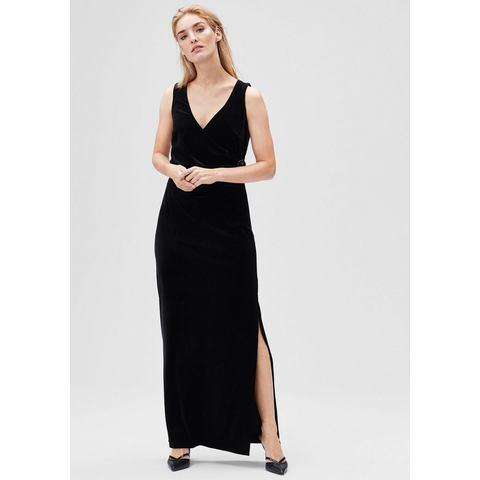 Picture s.Oliver BLACK LABEL Fluwelen jurk met broche zwart 057854