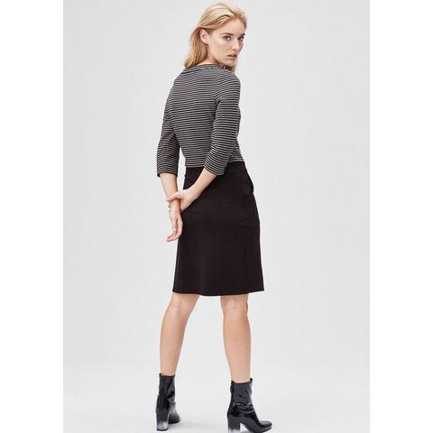 Picture s.Oliver BLACK LABEL Stretch jurk met een gestreepte structuur zwart 600265