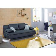 home affaire bedbank, boxspring, geschikt als volwaardig bed blauw