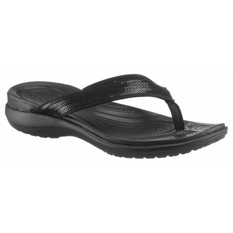 Crocs Flip Flops Dames Black Capri V Sequin