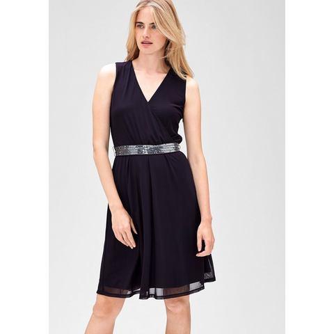 Picture s.Oliver BLACK LABEL Mesh jurk met pailletten rood 023647