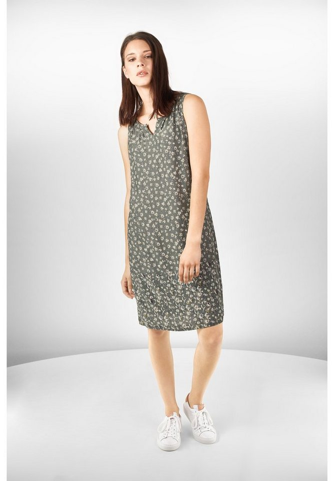Street One jurk met bloemenprint Erika groen