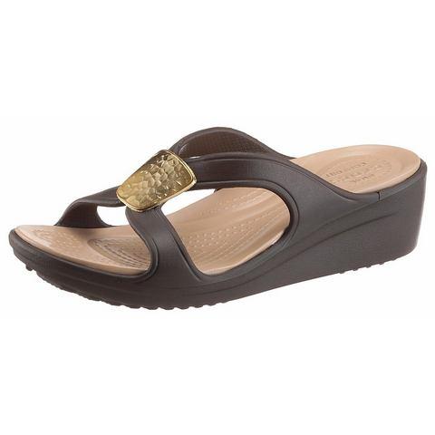 Crocs Wedge Dames Bronze-Gold Sanrah Embellished