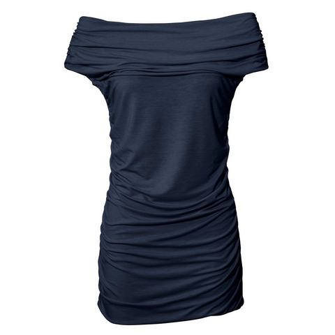 Bodyforming-shirt met carmenhals
