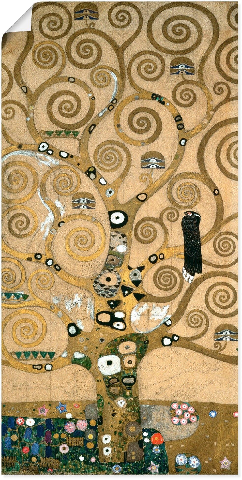 Artland artprint Levensboom. Detail, werksjabloon in vele afmetingen & productsoorten -artprint op linnen, poster, muursticker / wandfolie ook geschikt voor de badkamer (1 stuk) bestellen: 30 dagen bedenktijd