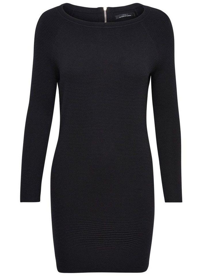 ONLY Lange mouw gebreide jurk zwart