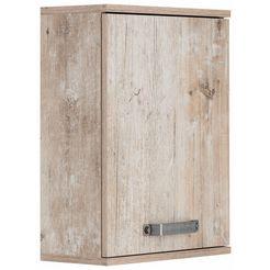 schildmeyer hangend kastje milan breedte 40,5 cm, met metalen handgrepen, draairichting deur naar keuze links of rechts blauw