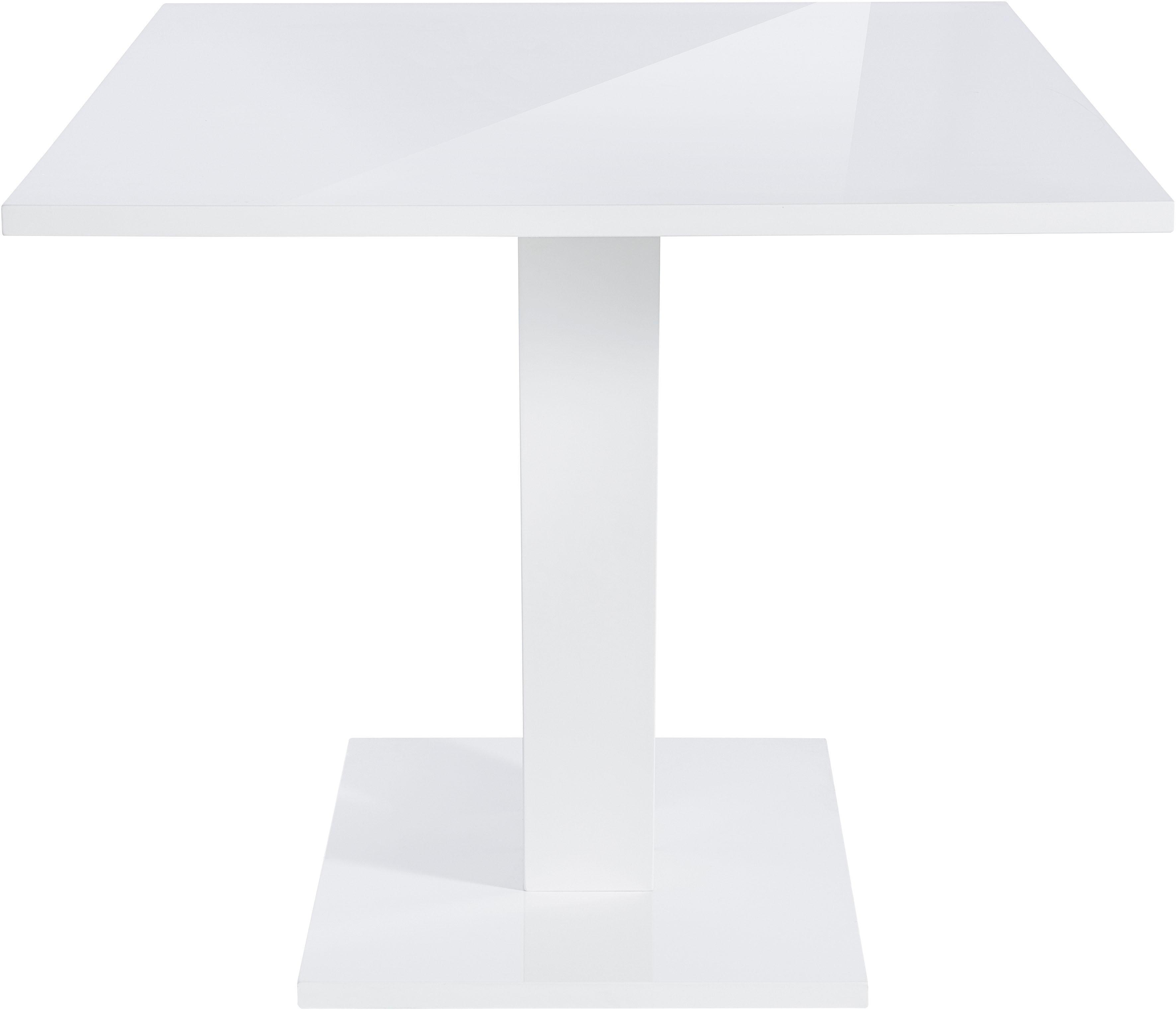 Hoogglans Eettafel 140cm.Eettafel Breedte 140 Cm