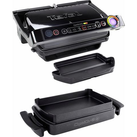 TEFAL elektrisch grillapparaat GC7148 Optigrill+ Snacking & Baking, 6 grillprogramma's
