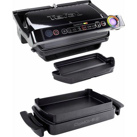 TEFAL elektrisch grillapparaat GC7148 Optigrill+ Snacking & Baking, 6 grillprogramma's
