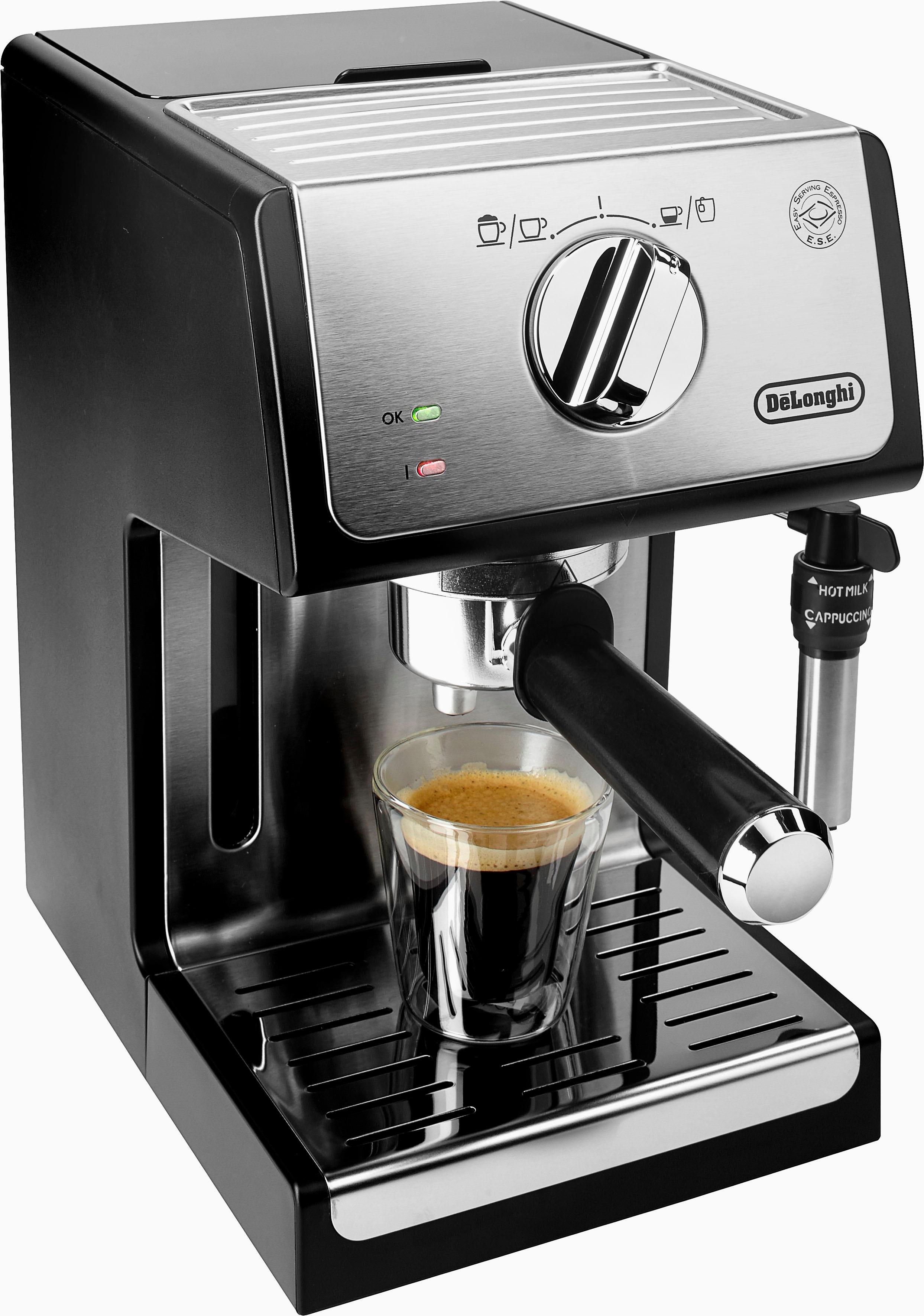 Op zoek naar een Delonghi De'Longhi Espresso-apparaat ECP 35.31, zilverkleur/zwart, 15 bar? Koop online bij OTTO