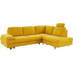trendmanufaktur hoekbank, naar keuze als slaapbank met bedkist geel