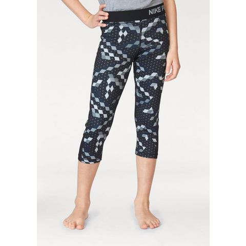 NU 20% KORTING: NIKE functionele tights »GIRL NIKE PRO CLASSIC CAPRI ALLOVER PRINT REL«