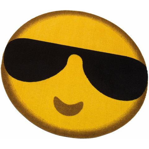 Vloerkleed, rond, MY HOME, »Emoji Sunglasses«, getuft