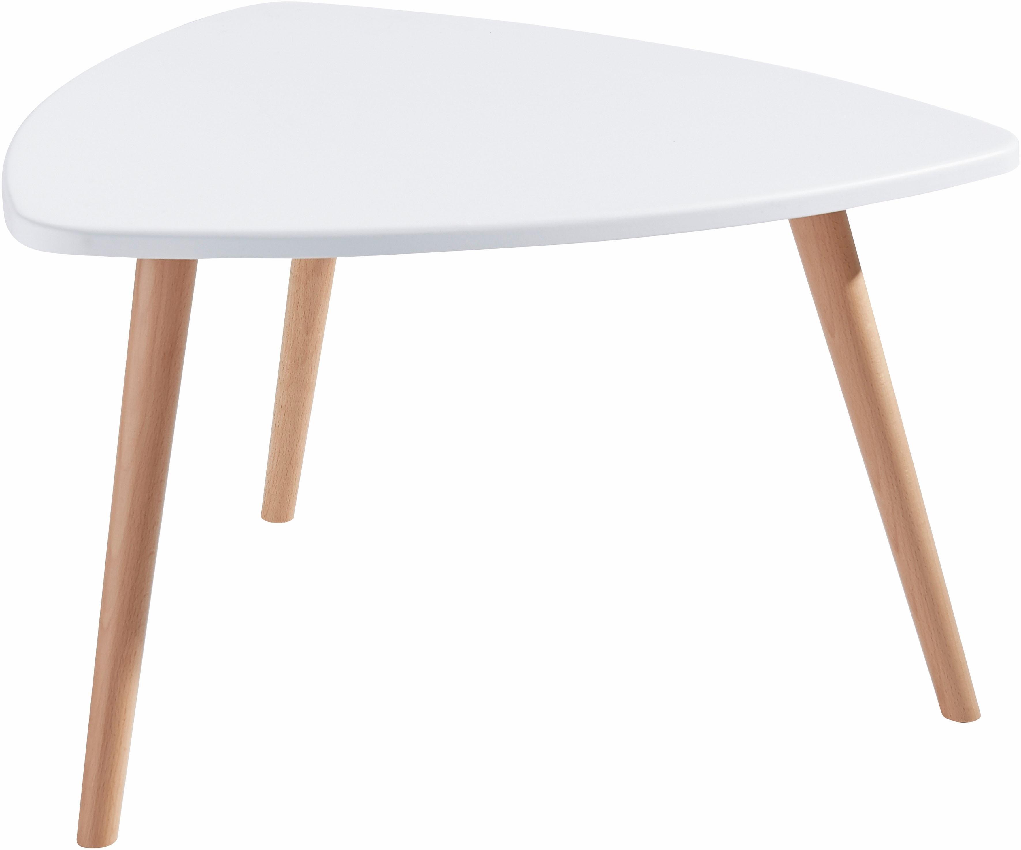 Wit Rond Tafeltje.Tafeltje In Afgerond Driehoekig Model