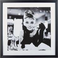 gc ingelijste artprint »celebrities: audrey hepburn motief 2«, 40x40 cm zwart