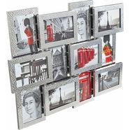 my home galerielijst fotolijstjes, van aluminium, zilverkleur, fotoformaat 10x15 cm zilver