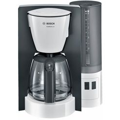 bosch koffiezetapparaat comfortline tka6a043, met glazen kan, zwart wit