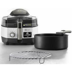 de'longhi airfryer multifry extra chef plus fh1396 multicooker met 4-in-1 functie, ook voor broodbakken, inhoud 1,7 kg wit
