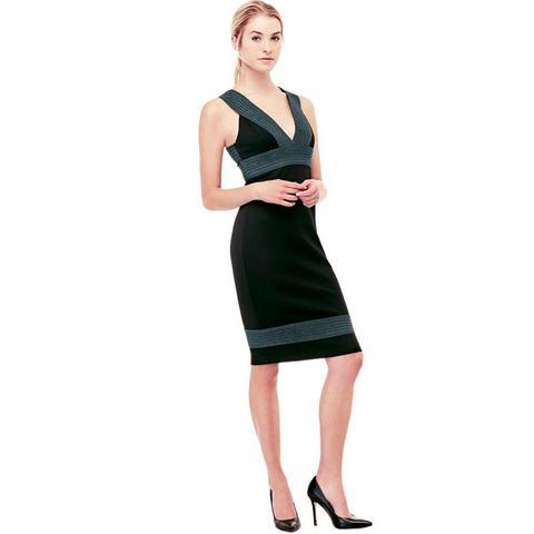 Picture GUESS tweekleurige jurk zwart 528036