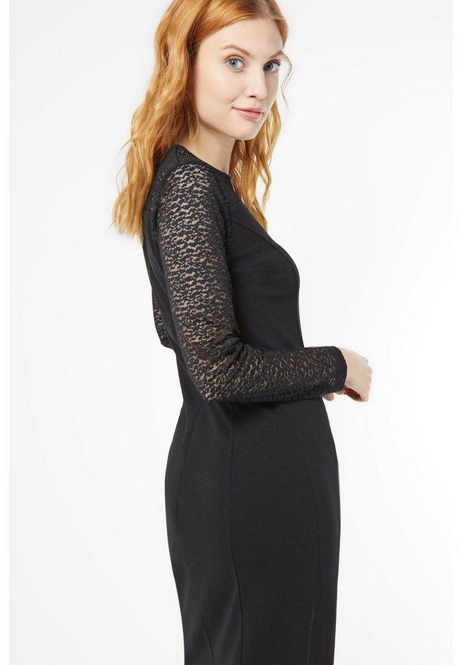 Street One jersey jurk met kant Kylie zwart