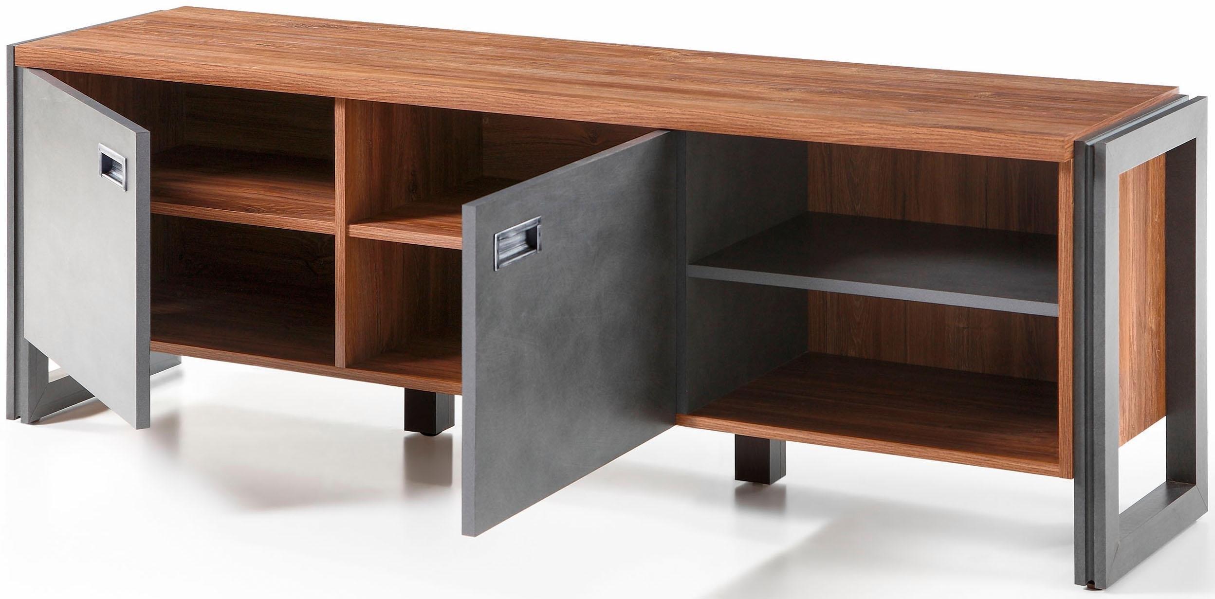 home affaire lowboard detroit breedte 160 cm in trendy industri le look koop je bij otto. Black Bedroom Furniture Sets. Home Design Ideas