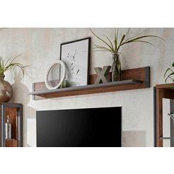 home affaire wandplank »detroit«, breedte 160 cm, in trendy industrial-look bruin