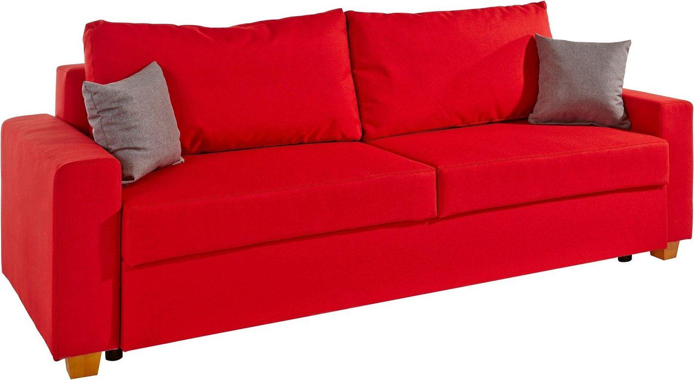 HOME AFFAIRE bedbank Merano, met bedkist en binnenveringsinterieur