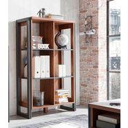 home affaire open kast »detroit«, hoogte 140 cm, in trendy industrial-look bruin