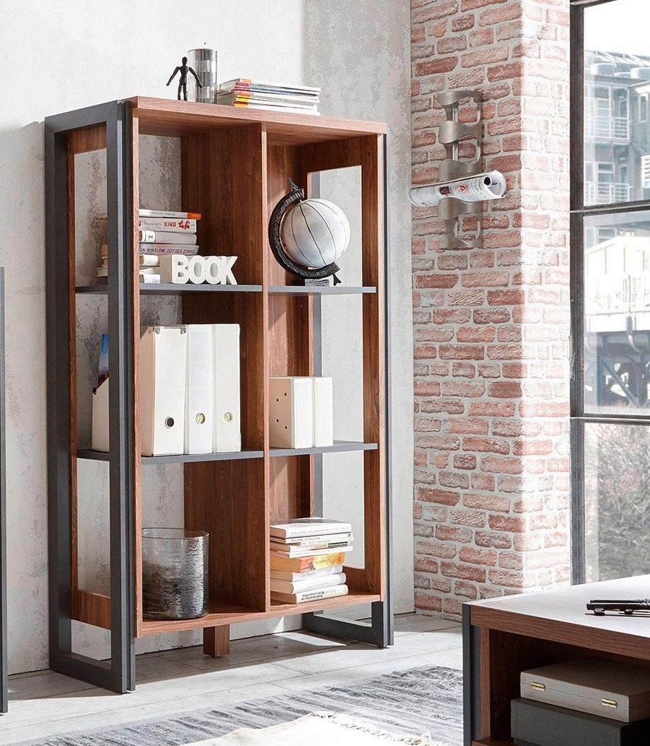 home affaire open kast detroit hoogte 140 cm in trendy industrial look koop je bij otto. Black Bedroom Furniture Sets. Home Design Ideas