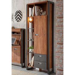 home affaire open kast »detroit«, hoogte 202 cm, in een trendy industrial-look bruin