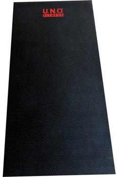 u.n.o. fitness vloerbeschermingsmat voor fitnessapparaten zwart