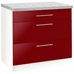 onderkast 'aken', 90x60x85 cm rood