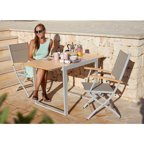 Tuinmeubelset Naxos, 3-dlg., voor 2 personen, tafel 70x120 cm