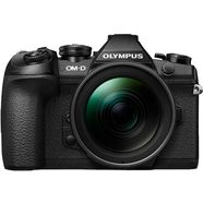 olympus systeemcamera om-d e-m1 mark ii inclusief 12-40 mm pro objectief gezichtsherkenning, hdr-opname zwart