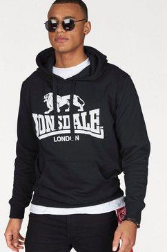 lonsdale capuchonsweatshirt »gosport« zwart