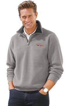 catamaran fleece-trui met schipperskraag grijs