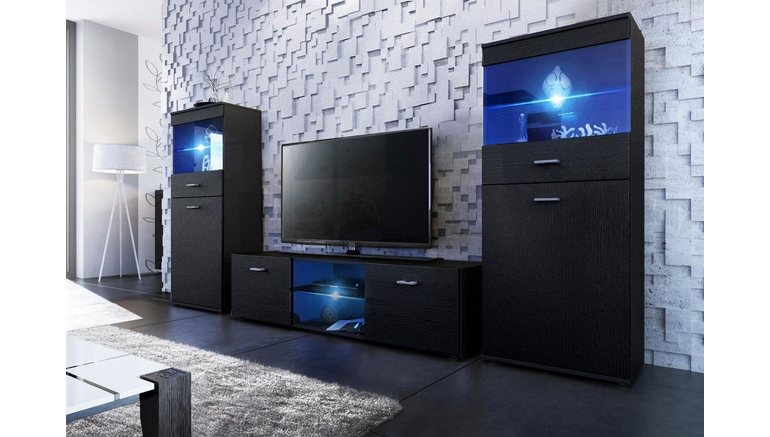 tv wand made in germany 3 delig online kopen otto. Black Bedroom Furniture Sets. Home Design Ideas