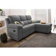 atlantic home collection hoekbank, met relaxfunctie en binnenvering grijs