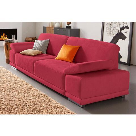 woonkamer driepersoons bankstel rood structuur fijn SIT en MORE
