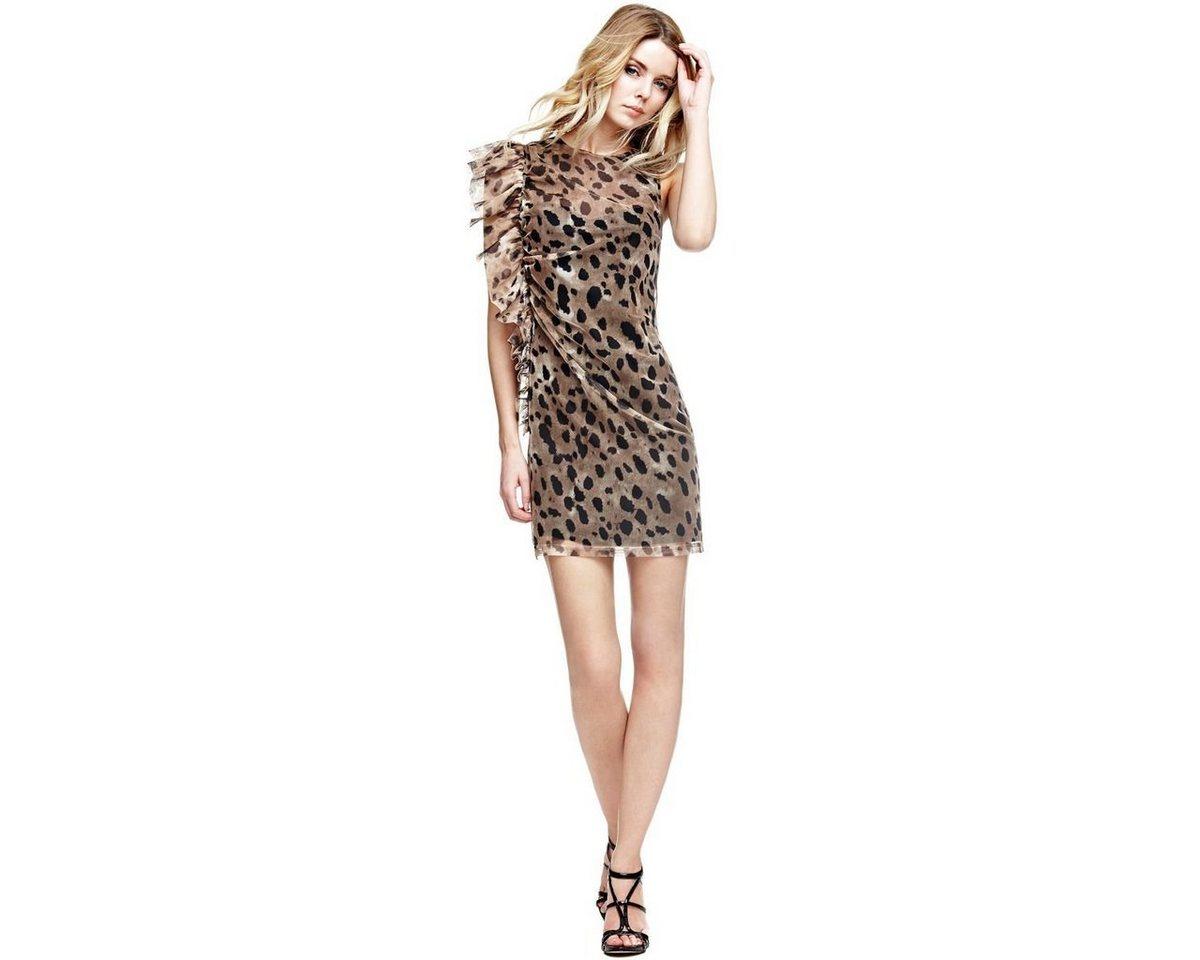 NU 21% KORTING: Guess jurk in animal-look met volant multicolor
